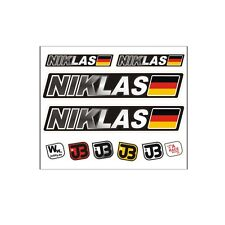 """Niklas"" Auto Fahrrad Motorrad Kart Helm Fahrername Aufkleber Sticker Flagge"