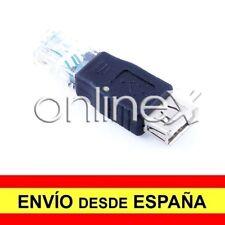 Adaptador USB  Hembra a LAN RJ45 Macho Conversor Convertidor Cable de Red a1403