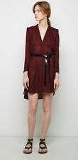NEW ISABEL MARANT $460 36 Riviera Tunic Dress 8 4 Red Cotton Leather Belt Mini