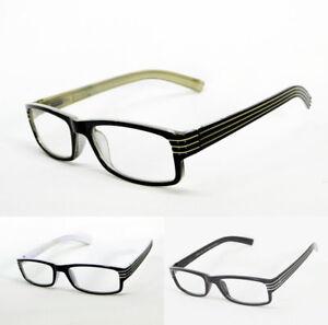 DG Eyewear Men Women Reading Glasses Small rectangle Readers Spring Hinge Black