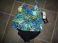 NEW $150 MIRACLESUIT 1 PIECE Swim Suit Tropical MIRACLE SWIM SUIT SIZE 10