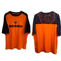 Vintage Chicago Bears T Shirt Mens Size L Large Reebok Orange Blue