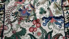 Waverly Paisley Floral Ruffled Standard Pillow Shams Blue Green Red Set of 2