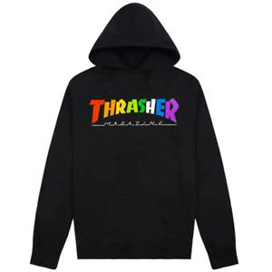 Genuine Thrasher Rainbow Mag Logo Hoodie - Black