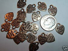 Al977 10mm Made With Love Charms Pendants-Gold Plate-25