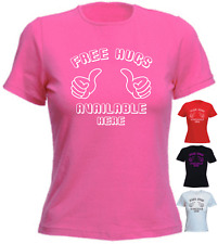 FREE HUGS AVAILABLE HERE Funny New Gift T-shirt
