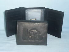 New York NY GIANTS    Leather TriFold Wallet    NEW    black 3 sb