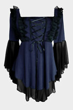 Tunique grande taille style renaissance médiéval gothique corset sexy