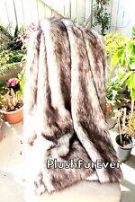 5'x6' Brown Tip Polar Bear faux fur throws blankets super plush exotic fake fur
