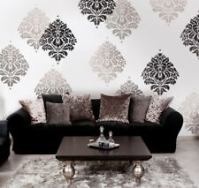 Kerry Damask Wall Stencil - LARGE - Easy Reusable Stencils for DIY Wall Decor