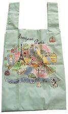 LADUREE Bonjour EIFFEL TOWER MOULIN ROUGE Macaron French Bag BOUGHT IN PARIS New