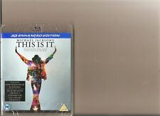 MICHAEL JACKSON THIS IS IT 3D BLU RAY PS3 PROMO SEALED