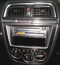 SUBARU IMPREZA 2.0 WRX STI 2000-05 Black Carbon Fibre effect Console Surround B
