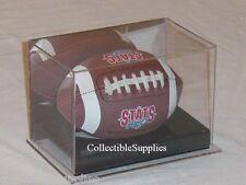 New Deluxe Mini Football Display Case Holder w/ Mirror