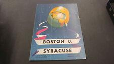 September 23 1949 Boston U vs Syracuse Football Program