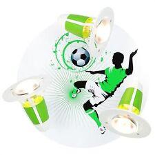 Elobra Deckenleuchte Fussball  Kinderzimmerlampe Rondell grün weiß Soccer 3flg :