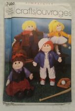 """Wardrobe Clothes for 18"""" Dolls Simplicity Sewing Pattern 7068"""