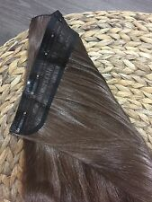 One Piece Full Head Synthetic High Fibre Hair Extensions CHESTNUT BROWN