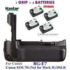 BG-E7 Grip + 4x LPE6 Battery for Canon LP-E6 Battery & Canon EOS 7D Digital SLR