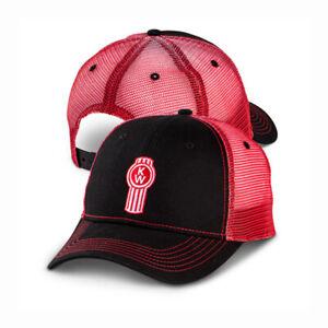 Kenworth Trucks Cap - Black & Red Ombre Mesh KW Hat