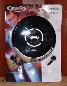 Jensen CD-60R Personal CD Player - 60 Second Anti-Skip - FM Radio (Silver/Black)