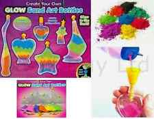 Glow In The Dark Sand Art Bottle Kids Craft Hobby Creative Toys for Children