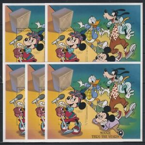 R455. 5x Gambia - MNH - Animation - Disney - Minnie Thru the Years - Bl.