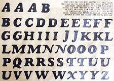 Original Vintage Alphabet Letters Iron On Transfer