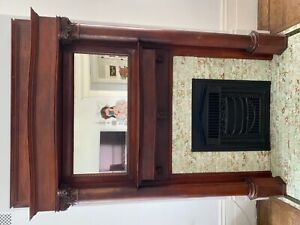 Victorian Mantle Fireplace Surround with Mirror