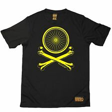 Bicycle Wheel Cross Bones - Breathable Sports T-SHIRT Cycling Birthday Gift Bike