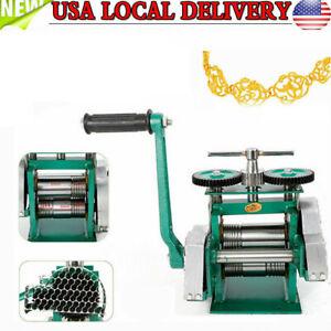 Manual Jewelry Press Rolling Mill Machine Wire 85mm Flat Metal Sheet Roller tool
