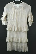 Lady Noiz Women's 1XL Ruffled Layered Full Length Long LightWeight Dress Tunic
