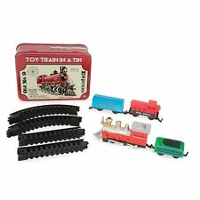 Battery Powered 16 Piece Mini Toy Train in a Tin Old No 9 Set 3901 -