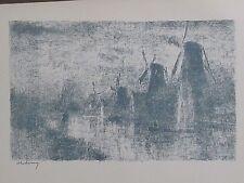 Albert Lebourg  Moulins sur la Schie  lithographie originale 1897