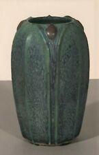 Jemerick Pottery Grueby Arts & Crafts Style Vase Matte Green 4-1/2 inches