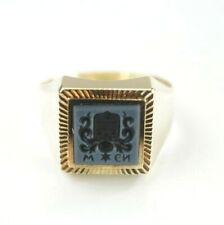 Schöner 585er Gold Ring 14 Karat Siegelring Gelbgold 3 Gramm