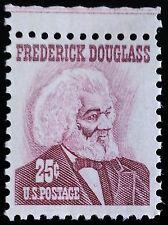 1967 25c Frederick Douglass, Social Reformer, Rose Lake Scott 1290 Mint F/VF NH