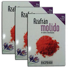SPANISH PURE SAFFRON GROUND, 3 PACKAGES (4 SACHETS EACH PACKAGE)