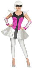 Space Girl Silver Kostüm für Damen Weltall Weltraum Außerirdisch Alien Karneval
