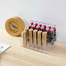 Holder Makeup Lipstick 24 Case Acrylic Organizer Cosmetic Storage Clear Display