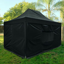 Upgraded Quictent 10x15 ft EZ Pop up Canopy Instant Party Tent with Sides Black