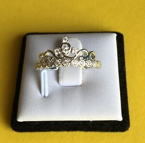 Created Diamand Crown Ring