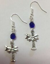 South Carolina Palmetto Moon Earrings, Sterling Silver Earwires, Ann Peden