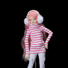 Dollmore 1/4 BJD doll clothes MSD SIZE -Basic High-Neck Long T Shirt (Stra Pink)