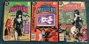 Lot of (3) 1986 DC COMIC  ELVIRA'S HOUSE OF MYSTERY  MIXED-GRADE