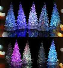 Crystal Christmas Tree LED Lamp Light Ornaments Decoration Xmas Party Gift