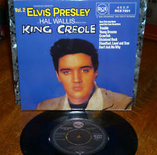 """*<* ELVIS UNPLAYED MINT """"KING CREOLE VOL.2"""" w/""""TROUBLE"""" UK-only '82 EP/PIC COVER"""