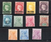 St Helena QV Victorian mint collection x 11V WS19193