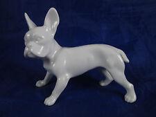 Vintage Augarten Wien White Porcelain French Bulldog Dog Figurine Royal Vienna