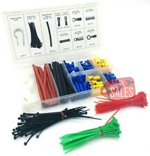 308Pc Terminal Connector Cable Tie Clamp Heat Shrink Set Electrical Assortment